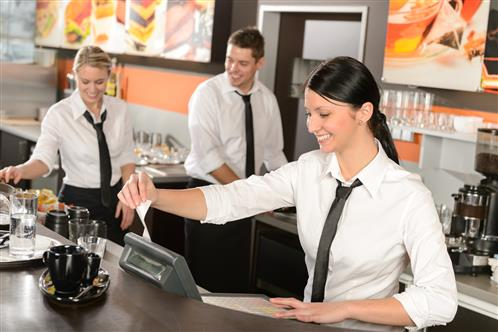 Women Using Restaurant Point of Sale System