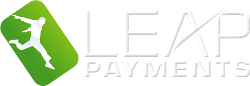 Leap Payments White Footer Logo