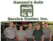 Hansen's Auto Service Center Staff & Logo