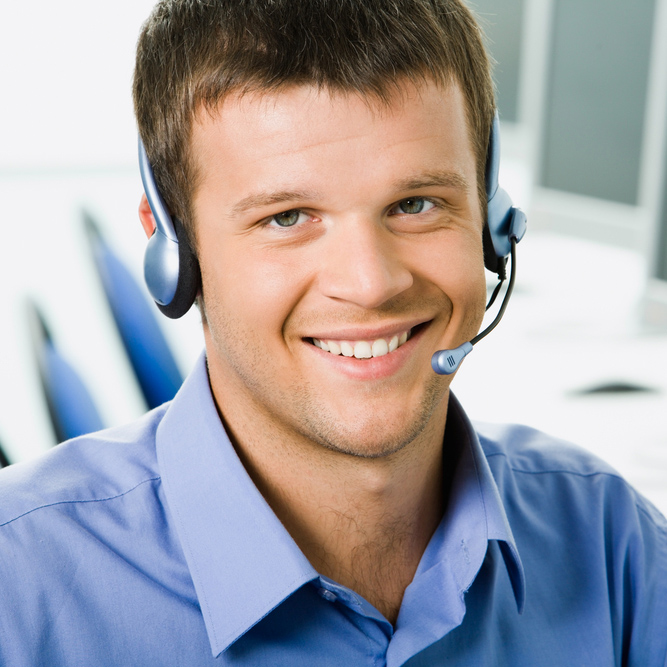 Male Support Technician With Headset