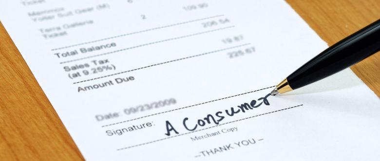 Customer receipt signature