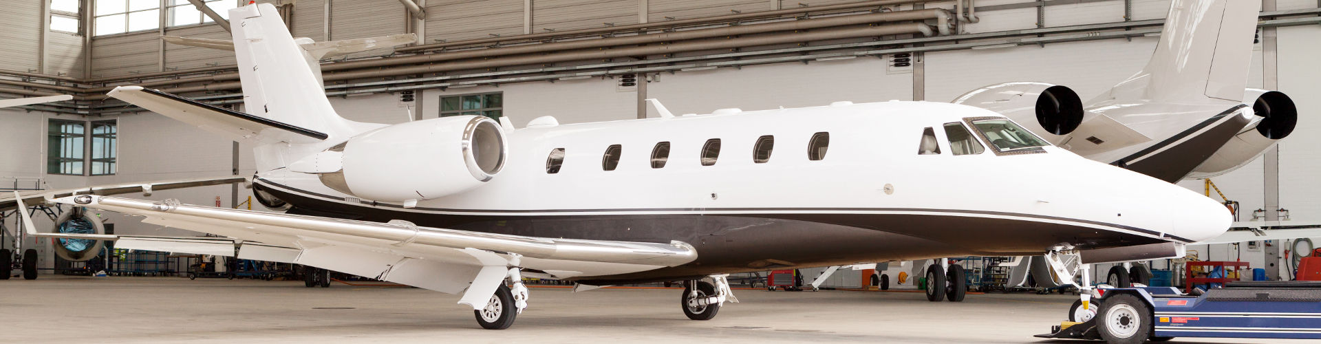 private jet charter merchant account in hanger