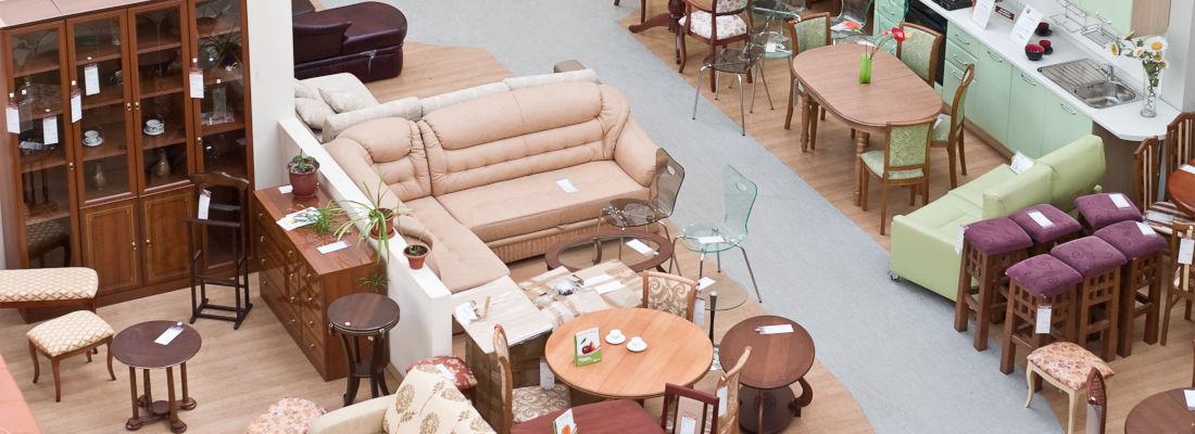 Huge Furniture Store Outlet House Display